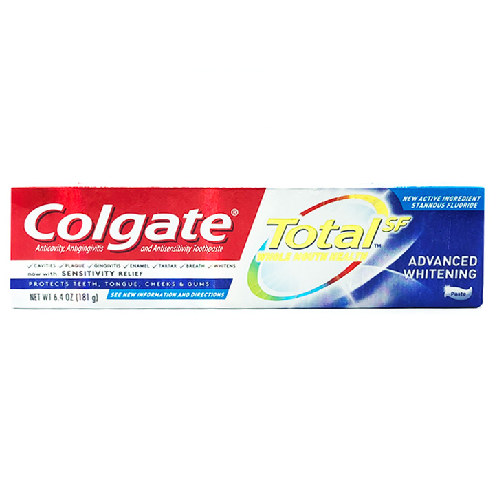 Kem đánh răng Colgate Total SF Advanced Whitening Toothpaste, 181g