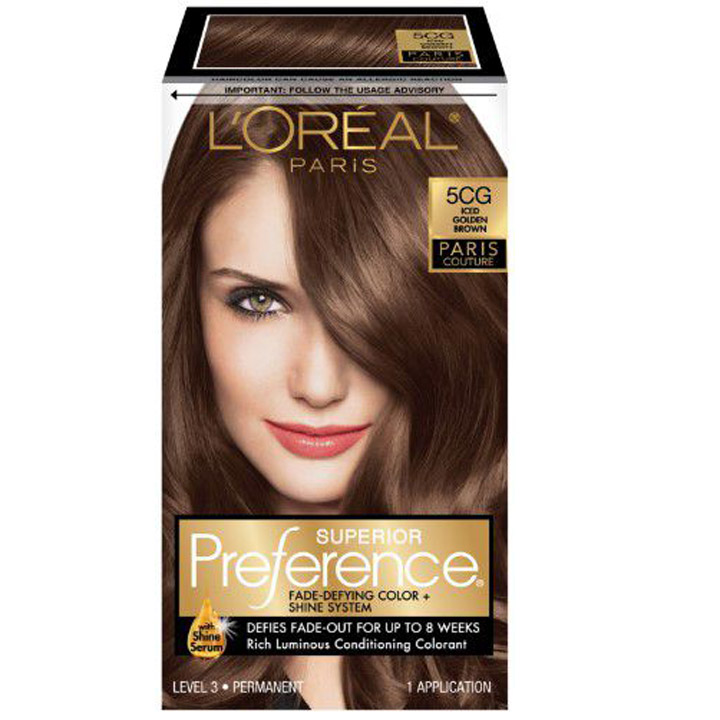 Thuốc nhuộm tóc L'Oréal Superior Preference, 5CG Iced Golden Brown