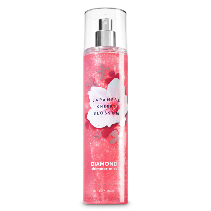 Xịt thơm toàn thân Bath & Body Works Diamond Shimmer - Japanese Cherry Blossom, 236ml