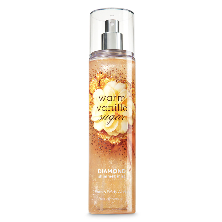 Xịt thơm toàn thân Bath & Body Works Diamond Shimmer - Warm Vanilla Sugar, 236ml