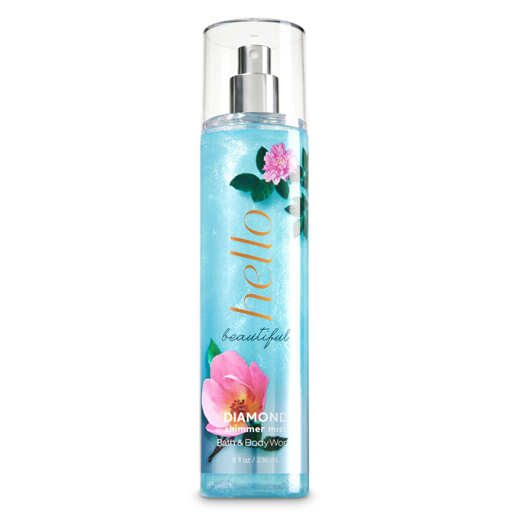 Xịt thơm toàn thân Bath & Body Works Diamond Shimmer - Hello Beautiful, 236ml