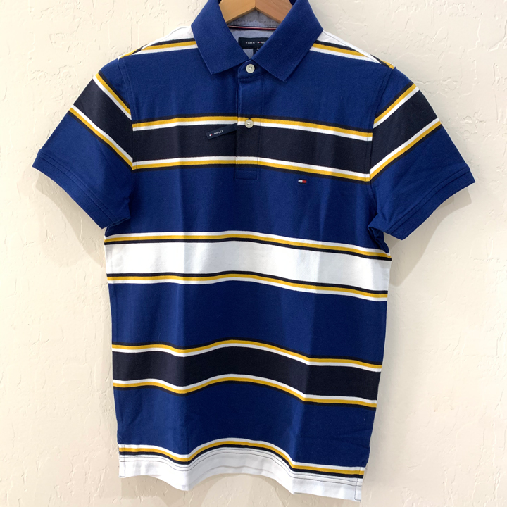 Tommy Hilfiger Slim Fit Coupe Etroite Striped Polo Shirt - Blue, Size S