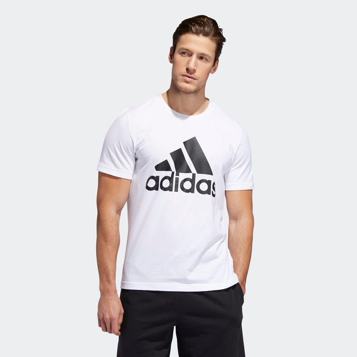 Adidas Badge Of Sport Graphic Tee - White, size M