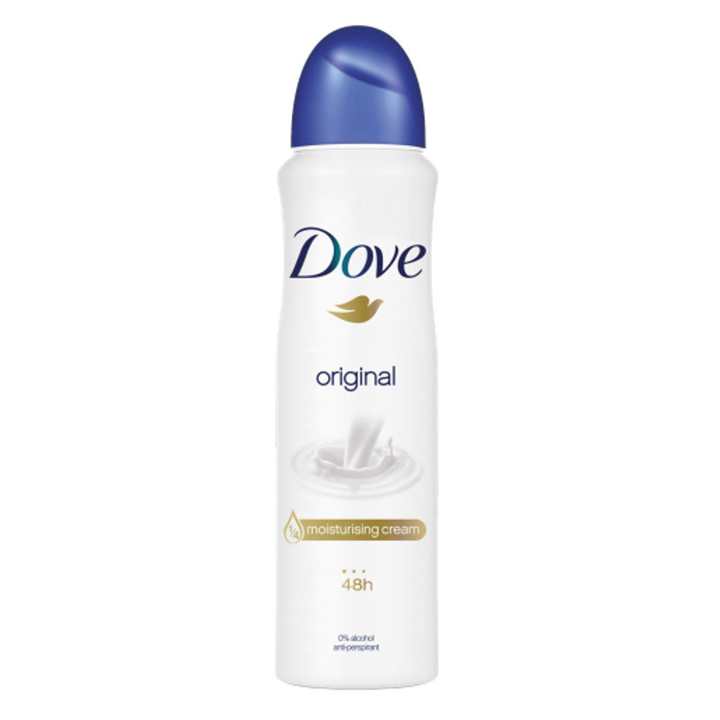 Xịt khử mùi Dove Original Moisturising Cream 48h, 150ml