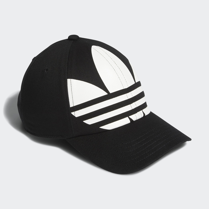 Adidas Men's Originals Relaxed Big Trefoil Cap, Black