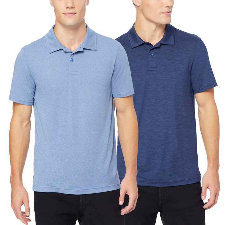 Set 2 áo 32 Degrees Cool Polo - Pacific/Skyline, size M