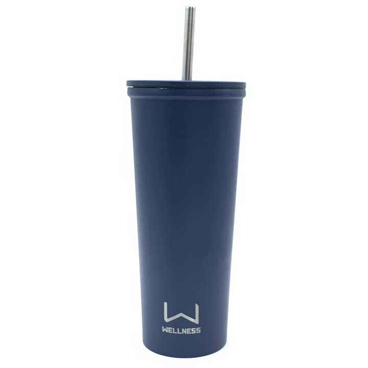 Ly giữ nhiệt Wellness Double Wall Stainless Steel - Navy, 710ml