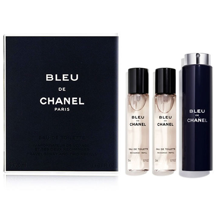 CHANEL Bleu de Chanel Eau de Toilette - Twist and Spray, 3 x 20ml