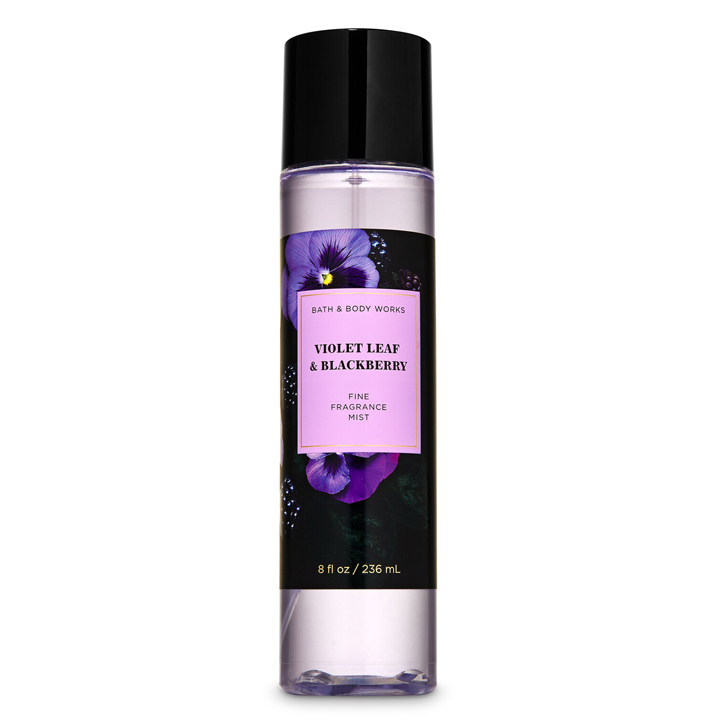 Xịt thơm toàn thân Bath & Body Works - Violet Leaf & Blackberry, 236ml