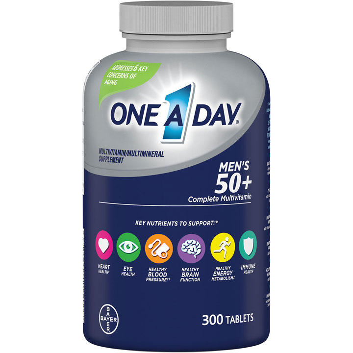 One A Day Men's 50+ Complete Multivitamin, 300 viên