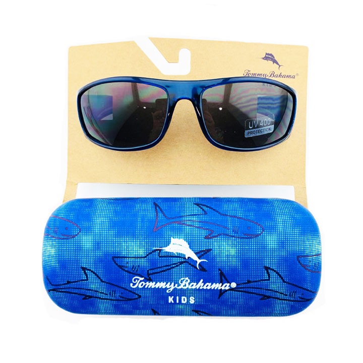 Kính mát Tommy Bahama Kids - Navy, Shark Case