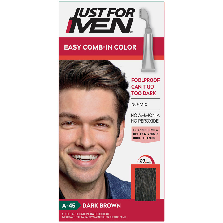 Thuốc nhuộm tóc Just For Men Easy Comb-in Color, A-45 Dark Brown
