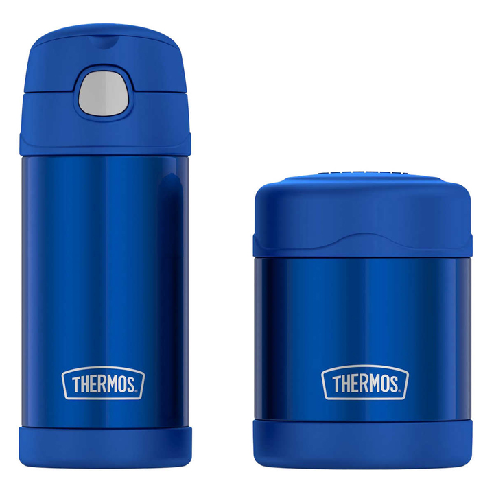 Thermos FUNtainer Bottle and Food Jar Lunch Set, Blue