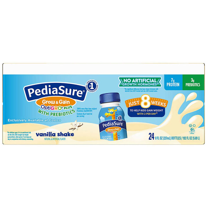 PediaSure Grow & Gain OptiGRO Plus with Prebiotics - Vanilla, 24 x 237ml