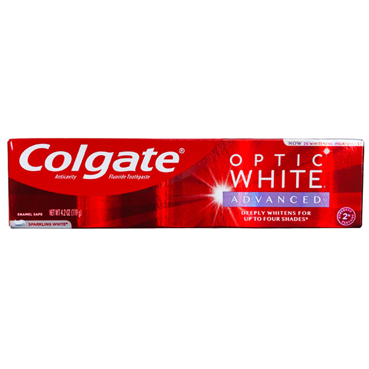 Kem đánh răng Colgate Optic White Advanced Teeth Whitening - Sparkling White, 119g