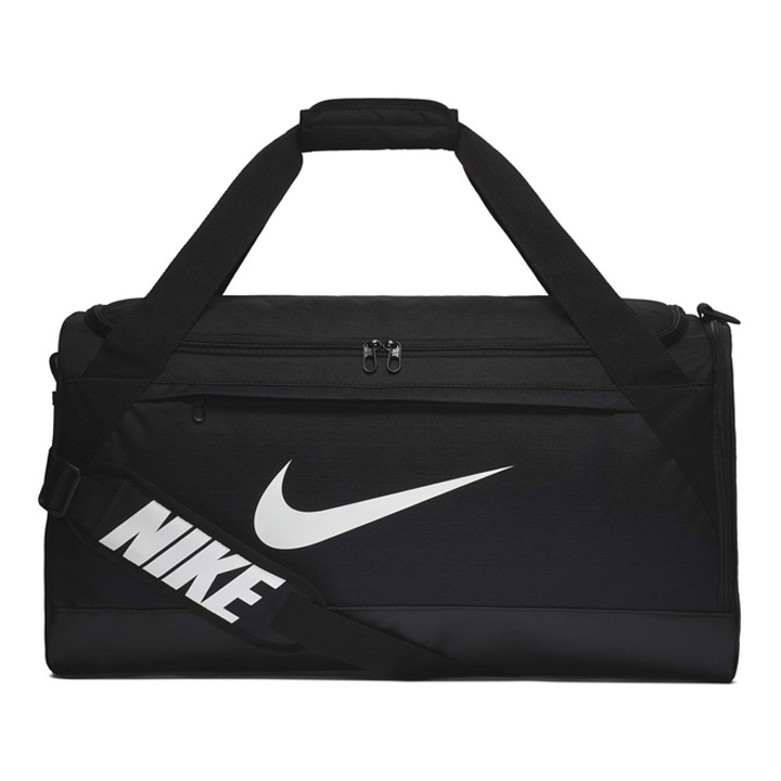 Túi Nike Brasilia Medium Duffel, Black/ White